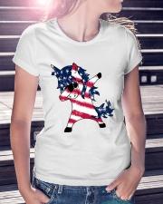 American Unicorn Ladies T-Shirt lifestyle-women-crewneck-front-7