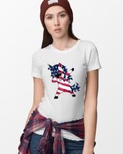 American Unicorn Ladies T-Shirt lifestyle-women-crewneck-front-9