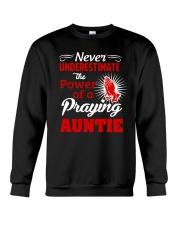 Praying Auntie Crewneck Sweatshirt thumbnail