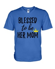Blessed To Be Her Mom V-Neck T-Shirt thumbnail