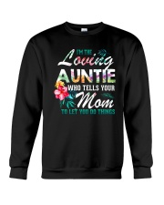 I'm The Loving Auntie Crewneck Sweatshirt thumbnail