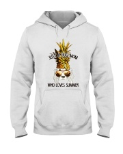 Just A Dog Mom Who Loves Summer Hooded Sweatshirt thumbnail