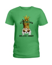 Just A Dog Mom Who Loves Summer Ladies T-Shirt front