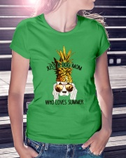 Just A Dog Mom Who Loves Summer Ladies T-Shirt lifestyle-women-crewneck-front-7