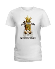 Just A Dog Mom Who Loves Summer Ladies T-Shirt thumbnail