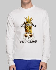 Just A Dog Mom Who Loves Summer Long Sleeve Tee lifestyle-unisex-longsleeve-front-1