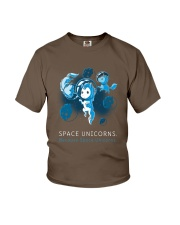 Because Space Unicorns Youth T-Shirt front