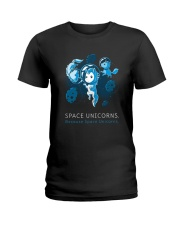Because Space Unicorns Ladies T-Shirt tile