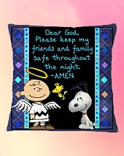 Dear God Square Pillowcase aos-pillow-square-front-lifestyle-9