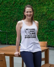 My Llama Don't Like You And She Likes Everyone Ladies Flowy Tank lifestyle-bellaflowy-tank-front-1