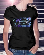 Full Time Mama Part Time Mermaid Ladies T-Shirt lifestyle-women-crewneck-front-7