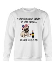 She Also Needs A Pug Crewneck Sweatshirt thumbnail