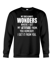 My Dad Always Wonder Crewneck Sweatshirt thumbnail