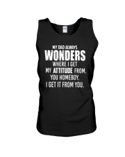 My Dad Always Wonder Unisex Tank thumbnail