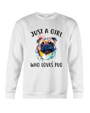 Just A Girl Who Loves Pug Crewneck Sweatshirt thumbnail