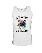 Just A Girl Who Loves Pug Unisex Tank thumbnail