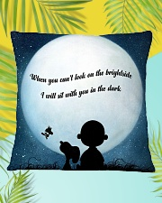 I Will Sit With You In The Dark Square Pillowcase aos-pillow-square-front-lifestyle-30
