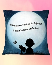 I Will Sit With You In The Dark Square Pillowcase aos-pillow-square-front-lifestyle-9