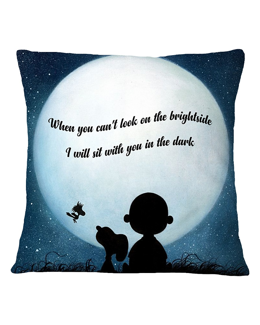I Will Sit With You In The Dark Square Pillowcase