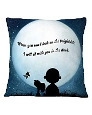 I Will Sit With You In The Dark Square Pillowcase front
