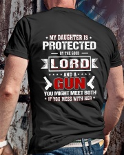 My Daughter Is Protected Classic T-Shirt lifestyle-mens-crewneck-back-2