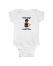 My Mama Said You Can't Hold Me Onesie front