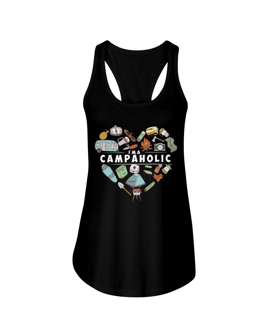 I'm A Campaholic Ladies Flowy Tank
