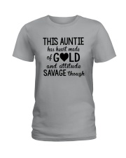 This Auntie Has Heart Made Of Gold Ladies T-Shirt thumbnail