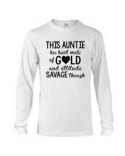 This Auntie Has Heart Made Of Gold Long Sleeve Tee thumbnail