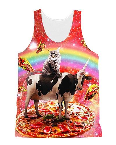 Space Cat Riding Cow Unicorn