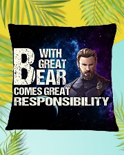 Great Beard  Square Pillowcase aos-pillow-square-front-lifestyle-30