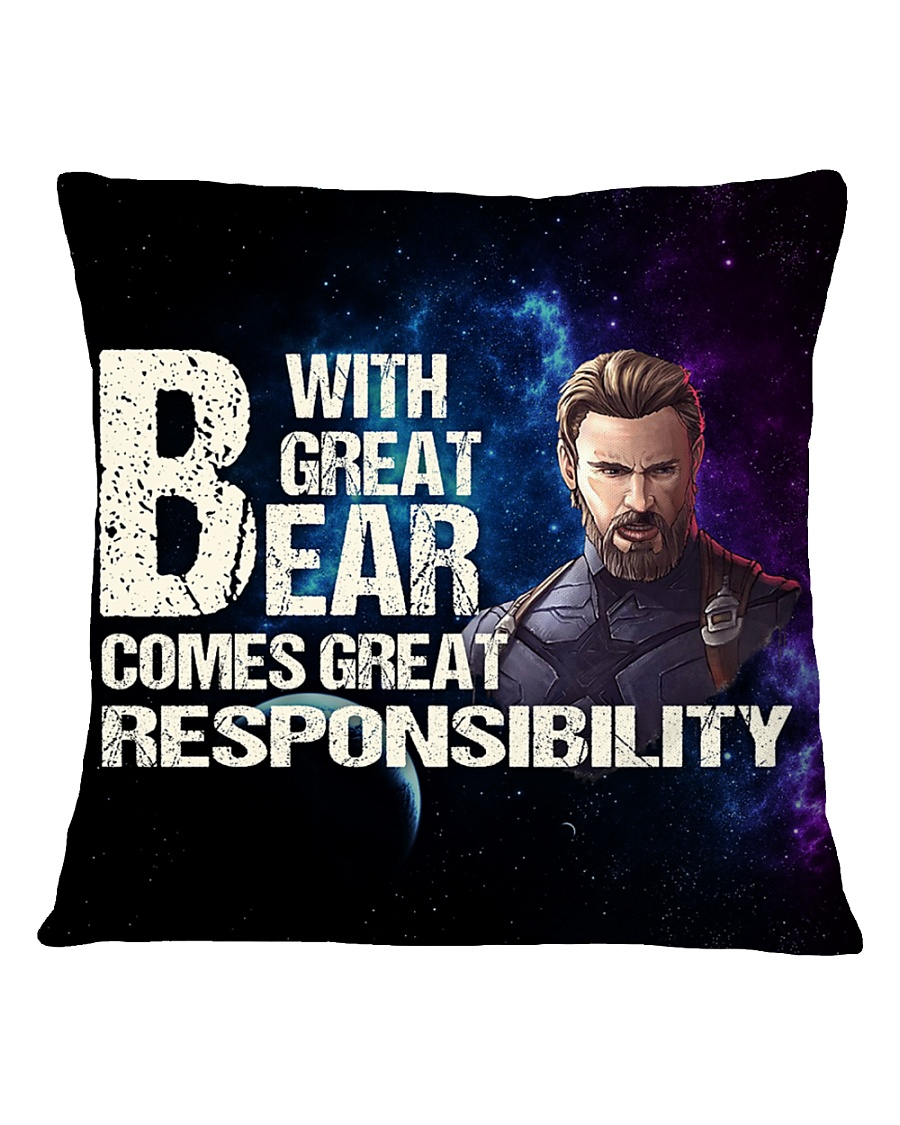 Great Beard  Square Pillowcase