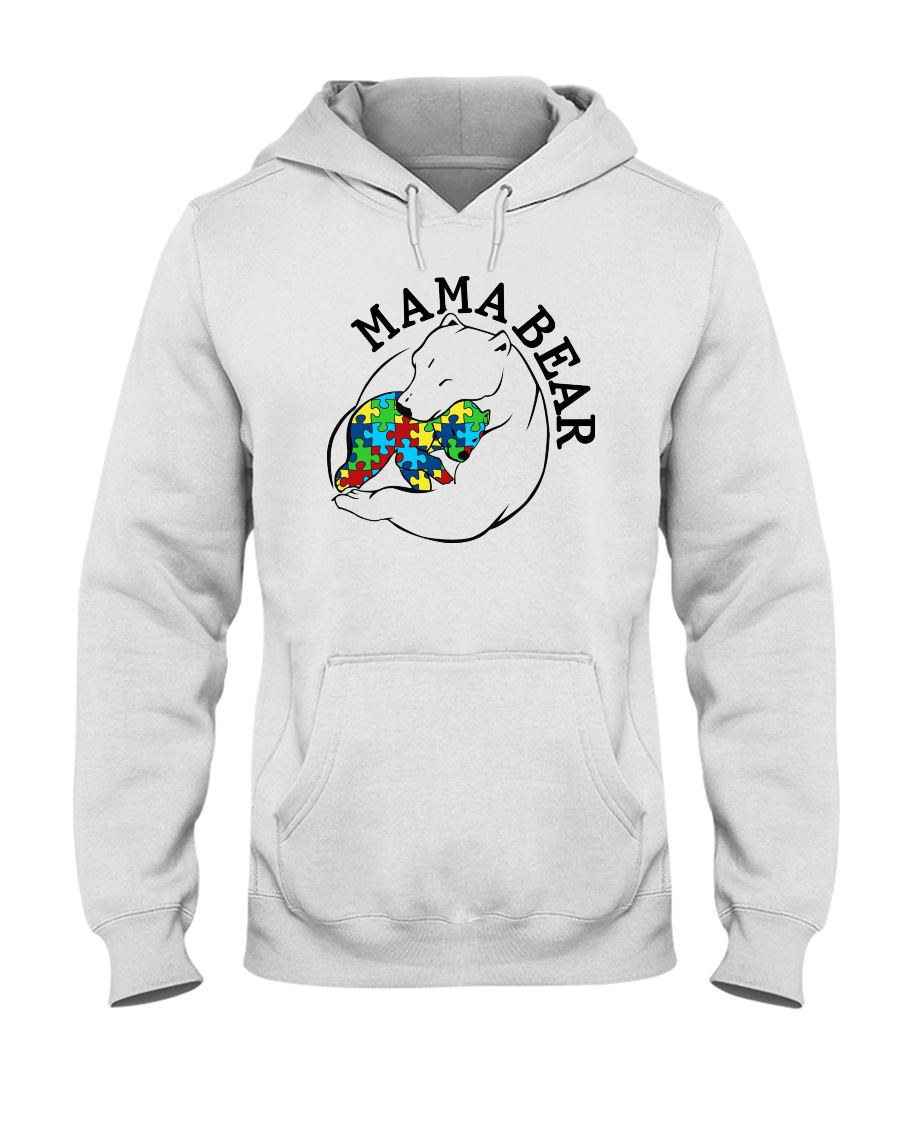 Mama Bear - Autism Shirt Hooded Sweatshirt