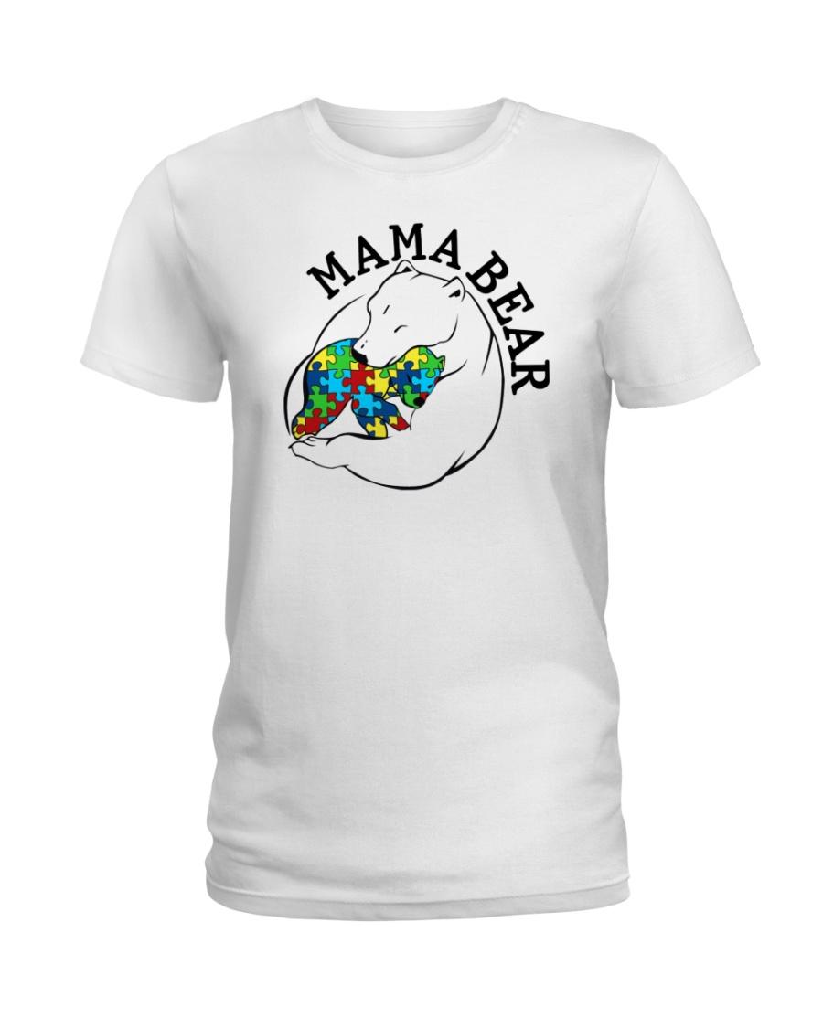 Mama Bear - Autism Shirt Ladies T-Shirt
