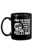 We Can Pet Two Pugs At Once Mug back