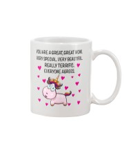 You Are A Great Great Mom Mug front