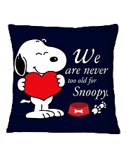 Cute Dog Square Pillowcase front