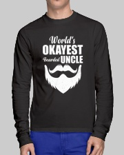 World's Okeyest Bearded Uncle Long Sleeve Tee lifestyle-unisex-longsleeve-front-1