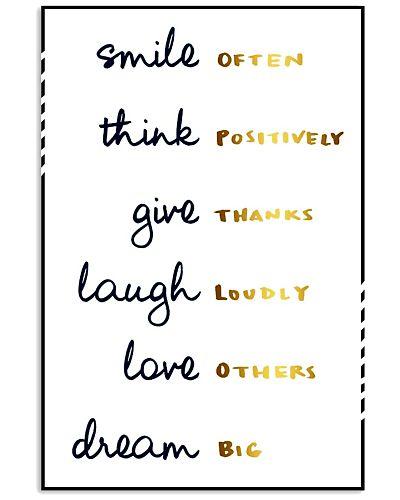 Smile Often Think Positively