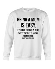 Being A Mom Is Easy Crewneck Sweatshirt thumbnail