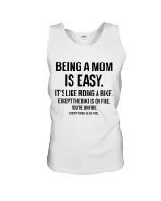 Being A Mom Is Easy Unisex Tank thumbnail