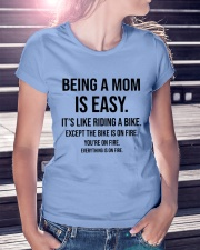Being A Mom Is Easy Ladies T-Shirt lifestyle-women-crewneck-front-7
