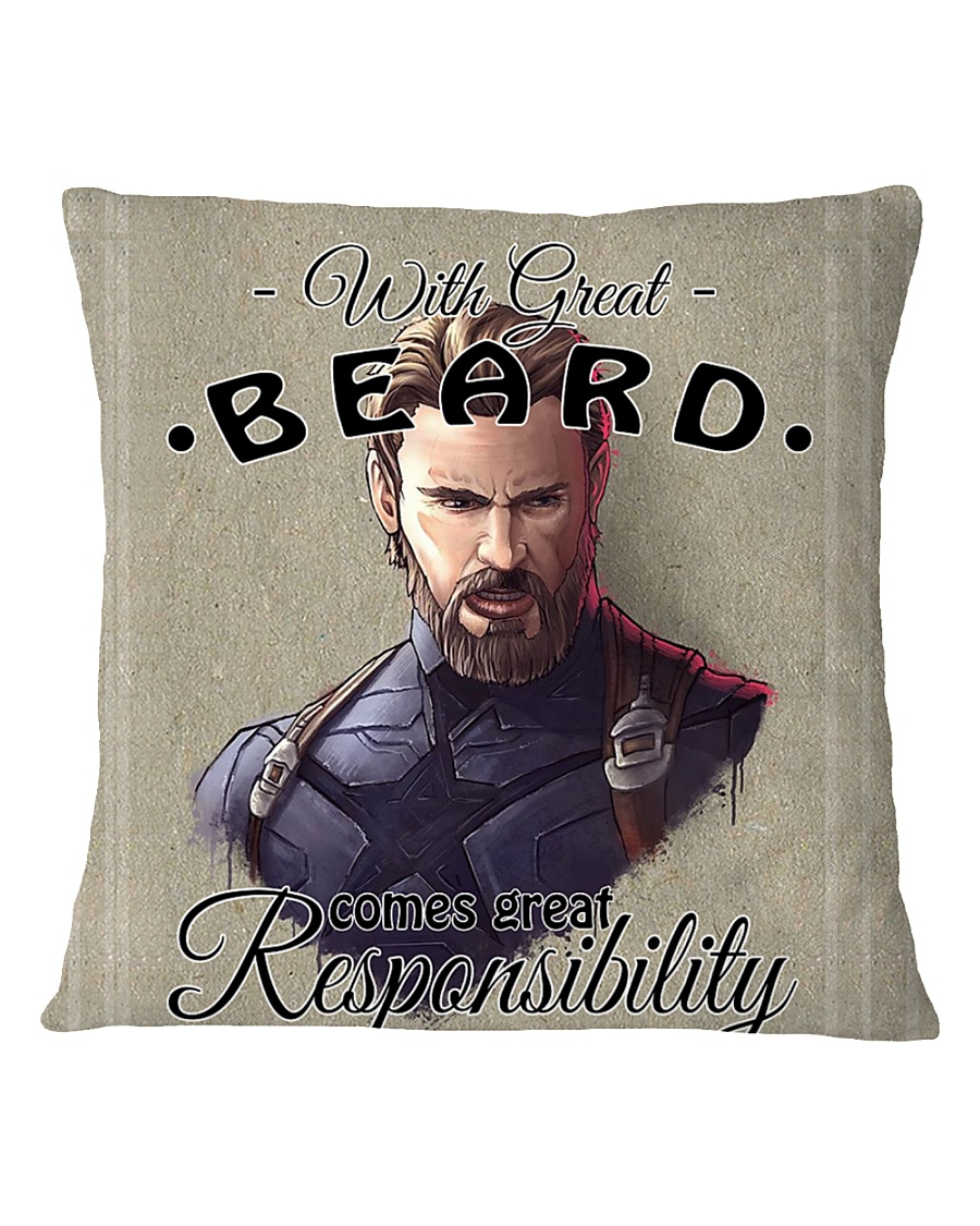 With Great Beard Square Pillowcase