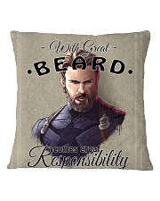 With Great Beard Square Pillowcase front