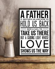 A Father Is Neither An Anchor To Hold Us Back 16x24 Poster lifestyle-poster-3