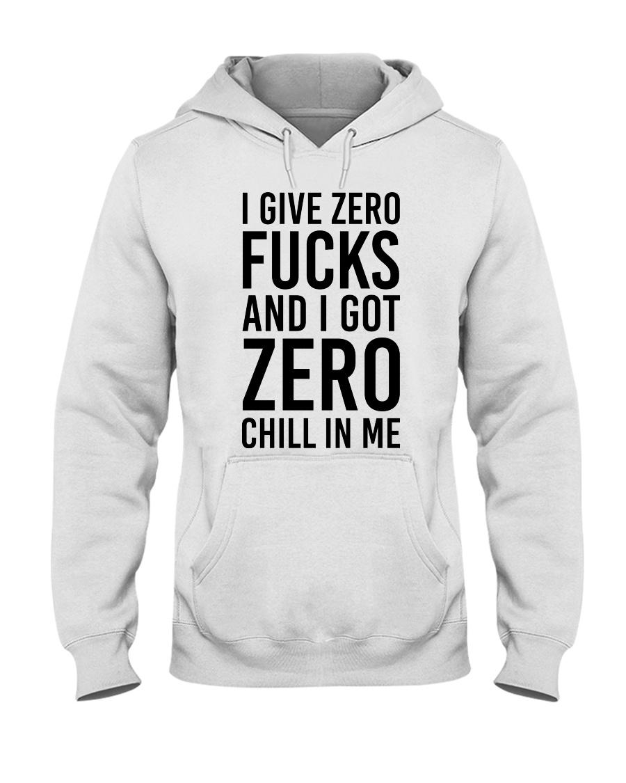 I Give Zero Hooded Sweatshirt