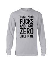 I Give Zero Long Sleeve Tee front