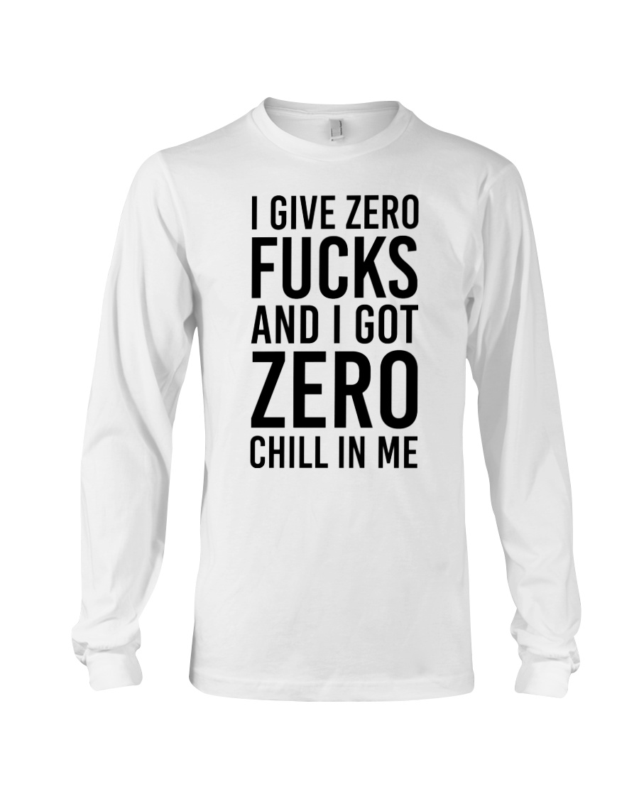 I Give Zero Long Sleeve Tee