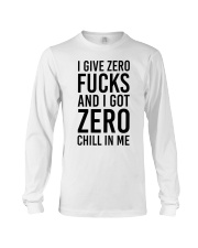 I Give Zero Long Sleeve Tee front