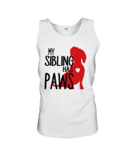 My Sibling Has Paws  Unisex Tank tile